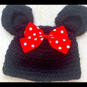 Mickey Mouse Ears, baby Bernie crochet hat, worn 1